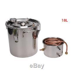 8-30L DIY Home Distiller Moonshine Copper Still Water Alcohol Oil Brewing Set