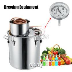 8 Gal 12/20/35L Stainless Alcohol Moonshine Water Copper Home Distiller Brewing