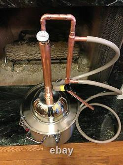 8 Gallon Copper Alcohol Moonshine Ethanol Still E-85 Reflux HD8 Stainless Boiler