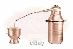 8 Gallon Copper Moonshine Still with copper distiller