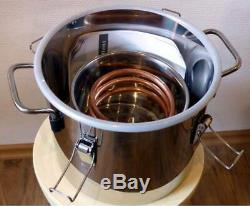 8L 2Gal DIY Home Alcohol Distiller Moonshine Ethanol Copper Still Stainless Brew