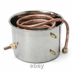 8L Alcohol Distiller Moonshine Copper Wine Maker Water Still Boiler Home DIY UK