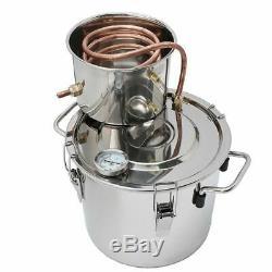 8L Alcohol Distiller Moonshine Copper Wine Maker Water Still Boiler Stainless UK
