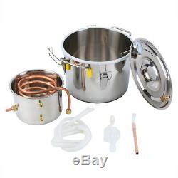8L Copper Moonshine Ethanol Alcohol Water Distiller Still Stainless Boiler