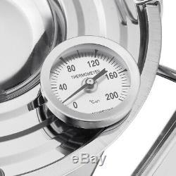 Alcohol Distiller Moonshine Copper Wine Maker Water Still Boiler +Thermometer