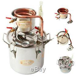 Alcohol Spirits Distiller DIY Home Brew Moonshine Boiler Still Oil Pot Ethanol