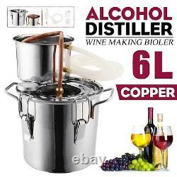 Alcohol Water Wine Distiller Moonshine Still Boiler Lightweight Copper DIY