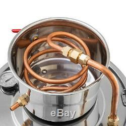 Alcohol Wine Distiller Moonshine Still with Copper Pipe 2.5 Gallon 10L