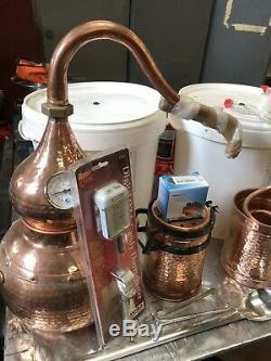 Alembic Copper Still 1.5 Litres, Alcohol Distiller, Hydrosol, Moonshine