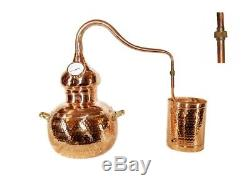 Alembic Copper Still With Thermometer, 20 Litres, Premium Model, Moonshine, Alcohol