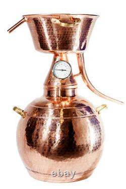 Alquitar Copper Still With Thermometer, 5 Litres, Alcohol, Hydrosol, Moonshine