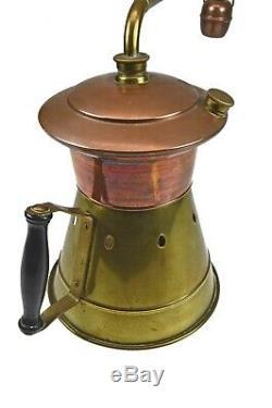 Antique Brass and Copper Medicinal or Moonshine Still, Dutch