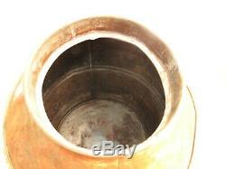 Antique Copper Jug Spigot Moonshine Whiskey Still Thumper 1800s Boston Union St