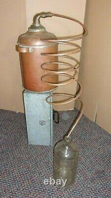 Antique Copper Moonshine Still with Coil EMPTY