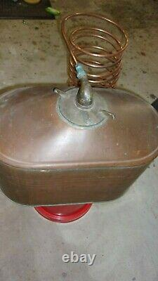 Antique Copper Moonshine Still with Coil EMPTY LARGE Size