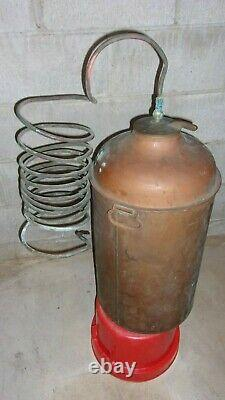 Antique Copper Moonshine Still with Coil EMPTY Larger Size