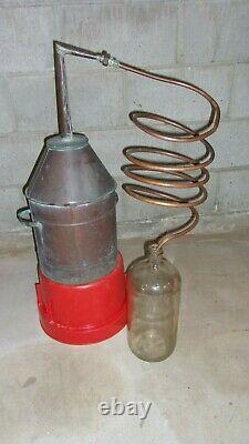 Antique Copper Moonshine Still with Coil EMPTY Smaller Size