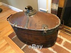 Antique Copper Moonshine Whiskey Still Pot Boiler wIth Spout