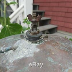 Antique Copper Moonshine Whiskey Still with Coil Great Patina