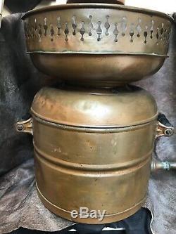 Antique Copper Still Pot Boiler With Copper Spicket. Moonshine Prohibition Art