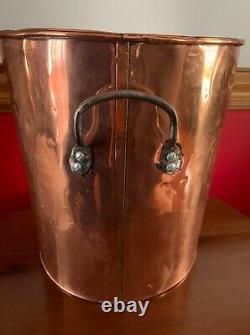 Antique Primitive Large 14 Copper Stock Pot Steamer Still Moonshine Whiskey