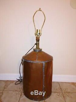 Antique Vintage Copper Moonshine Still Electric Lamp Light