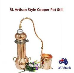 Artisan Style 3L Copper Pot Still For Making Essencial Oil Moonshine Gin Whisky