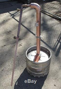 Beer Keg ELBOW Kit 2 inch Copper Moonshine Still Column reflux with 1' extension