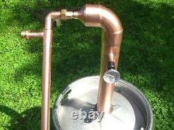Beer Keg ELBOW Kit 2 inch Copper Pipe Moonshine Still Pot Still Column reflux
