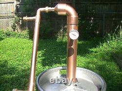 Beer Keg Kit 2 inch Copper Moonshine Still Pot Reflux Distillation Column