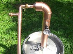 Beer Keg Kit 2 inch Copper Pipe Moonshine Still Pot Still Distillation Column