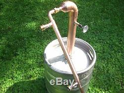 Beer Keg Kit 2 inch Pipe Copper Moonshine Still Pot Still Distillation Column