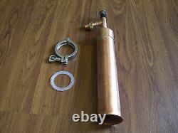 Beer Keg Kit Moonshine Still Head 1 ft COPPER column 2 x 1/2 tri clamp withunion