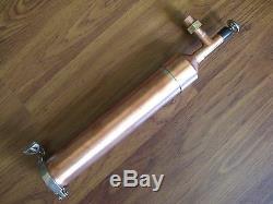 Beer Keg Kit Moonshine Still Head 1 ft column 2 x 1/2 Copper tri clamp withunion
