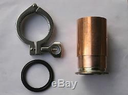Beer Keg Moonshine Still Kit 2 inch Copper Pipe Column Adapter Tri Clamp Gasket