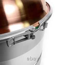Boiler with Copper M1 lid 3 for moonshine still distiller 25 Liter (6,6 gal)