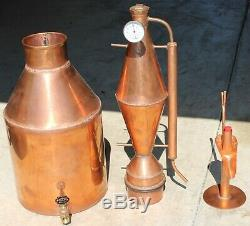 Brand NEW 10 Gallon Copper Alcohol Moonshine Still with Expansion Joint & Parrot