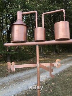 COPPER MOONSHINE STILL / Copper Weathervane/ Copper Whiskey Thief