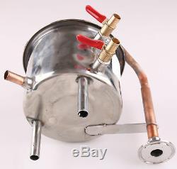 Coil Cooling Pot Stainless Steel/ Copper(For 2 Pots Moonshine still / Distiller)