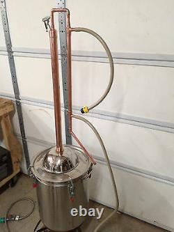 Copper Alcohol Moonshine Ethanol Still E-85 Reflux 15 Gallon Stainless Boiler