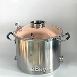 Copper Bell Lid For Tank 350mm Diameter Clamp Port 2 Inch Moonshine Still New