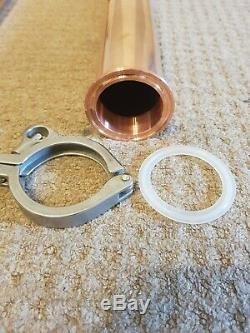 Copper Distiller 2 Pot Still Moonshine Alcohol Column Handmade Home Brew