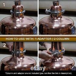 Copper Helmet / Onion Bulb for 4 Flute Still