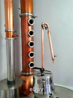 Copper Micro Pot-still 28 mm 15 lt kit pressure cooker still distiller moonshine