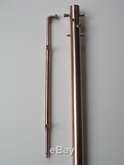 Copper Moonshine Still 2 inch Reflux Column Water Distiller Beer Keg Kit