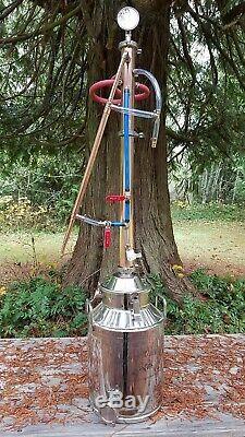 Copper Moonshine Still Beer Keg Kit Water Distiller Reflux Column Alcohol