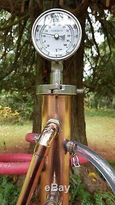 Copper Moonshine Still Distiller Reflux Column 2 Piece Column 2