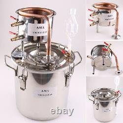 Copper Moonshine Still Home Water Alcohol Essential Oil Distiller Brewing Kit