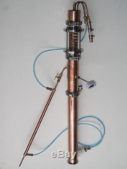 Copper Moonshine Still Liquid Management LM CM VM Bokakob Reflux Ethanol Vodka