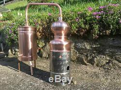 Copper Moonshine Still with Gas Heater Handmade European 0.8 Gallon 3 Liter